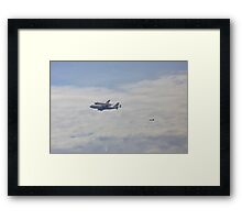 Shuttle in the Sky Framed Print