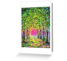 The Arches in Green by John E Metcalfe Greeting Card