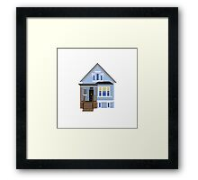 Blue House Framed Print