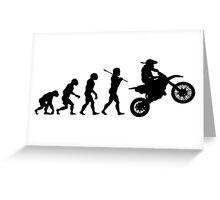 Motocross Evolution Greeting Card
