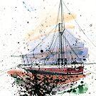 Sail boat by Aleksandra Kabakova