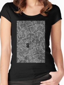 Yarn Ball Pit in Black Women's Fitted Scoop T-Shirt