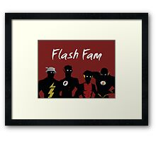 The Flashfam in Young Justice Framed Print