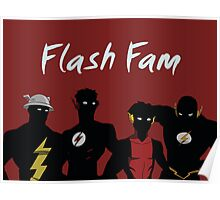 The Flashfam in Young Justice Poster