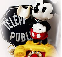 Mickey Mouse Public Phone by AndyLanhamArt