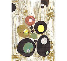 Woodgrain Green Photographic Print