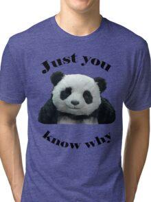 Panda Cheese Tri-blend T-Shirt