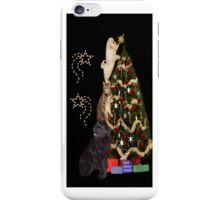 THE FINISHING TOUCH ANIMALS DECORATING CHRISTMAS TREE IPHONE CASE iPhone Case/Skin