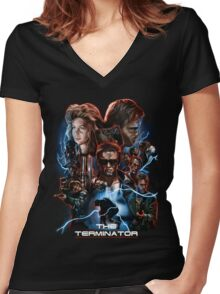 The Terminator Women's Fitted V-Neck T-Shirt