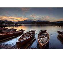 Derwent Water Rowing Boats Photographic Print