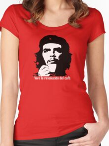 Viva la revolucion del cafe! Women's Fitted Scoop T-Shirt