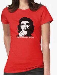 Viva la revolucion del cafe! Womens Fitted T-Shirt