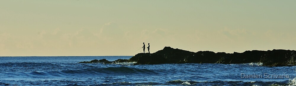 Rock Fishing by Damien Scrivano