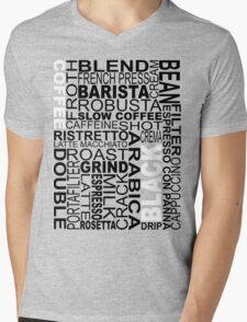 Black coffee...WORD!! Mens V-Neck T-Shirt