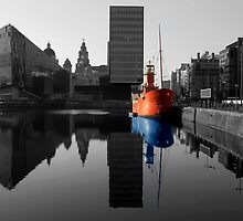 Canning dock boat with alternate reflection by Paul Madden