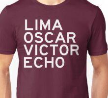 LOVE: Lima Oscar Victor Echo Unisex T-Shirt