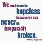 Never be Hopeless by Noelle Gravlee