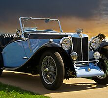 Vintage MG Sports Car by DaveKoontz