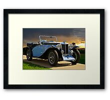 Vintage MG Sports Car Framed Print
