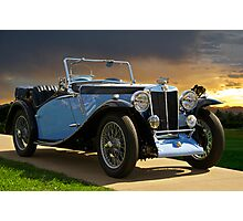 Vintage MG Sports Car Photographic Print