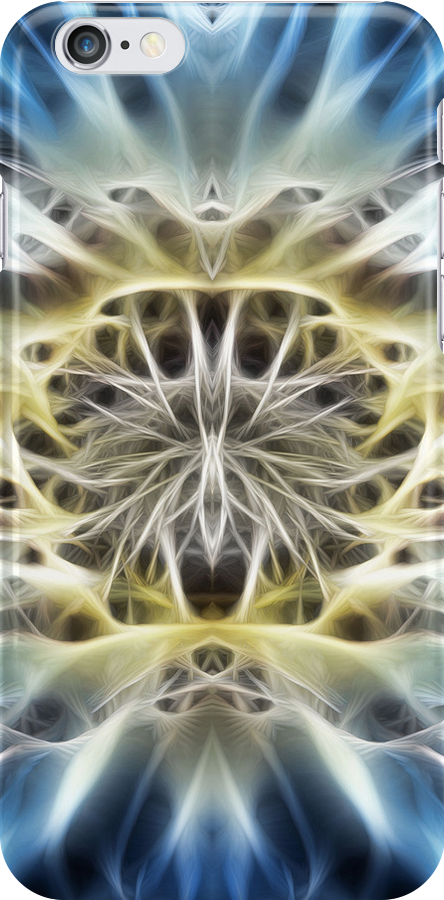 FRACTAL FLOWER - Iphone case by Rob  Toombs