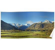The Lake District..Great Langdale Panorama Poster