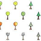 Seasonal Trees 2 Set by Amy-Elyse Neer