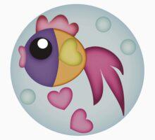 Cute Bubble Fish with Sweet Hearts Tee Kids Tee