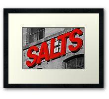 Salts. Framed Print