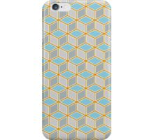 Tumbling Blocks, Orange/Blue iPhone Case/Skin