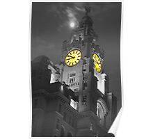 Liver Building Liverpool Monochrome and colour Poster