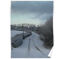 Winter Winding Road Poster