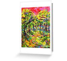 Pink Sky by Florida Artist John E Metcalfe Greeting Card