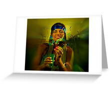 Trippy 3D Hippy Greeting Card