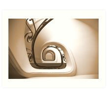 staircase - central mercure Lille 2 Art Print