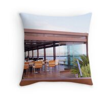 Nice hotel view above the sea  Throw Pillow