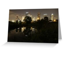 Houston by Night Greeting Card