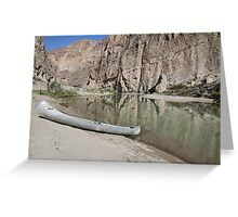 Canoe at Boquillas Greeting Card