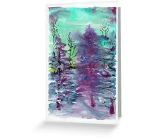 Sprinkle of snow in the trees 2 Greeting Card