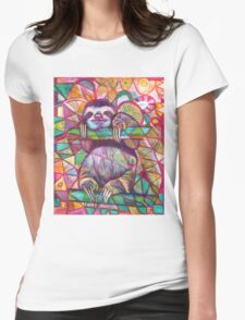 Sloth Love Womens Fitted T-Shirt