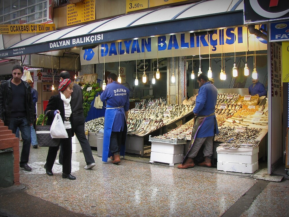 Fish market in Ankara by rasim1