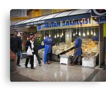 Fish market in Ankara Canvas Print