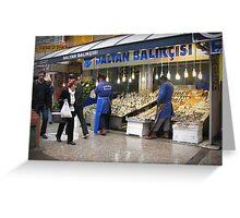 Fish market in Ankara Greeting Card
