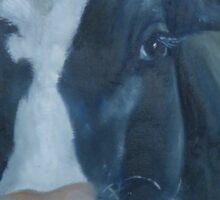 Lean on Me --- Cow Portraits Sticker