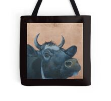 """""""The Grass Is Always Greener..."""" Cow Gazing Over Fence Tote Bag"""
