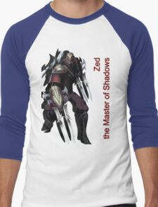 Zed - The Master Of Shadows V.2 Men's Baseball ¾ T-Shirt