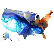 United States of America Map 7 - Colorful USA Photographic Print