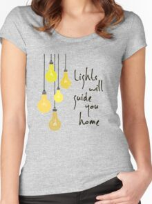 Lights Will Guide You Home Women's Fitted Scoop T-Shirt