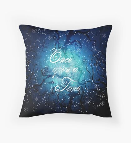 Once Upon A Time ~ Winter Snow Forest Throw Pillow