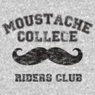 Mustache college (dark) by Unicorn-Seller